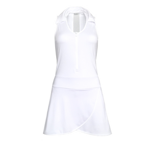 ladies golf apparel white women's golf dress racerback mesh insert