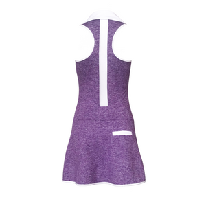 women's golf clothes purple women's golf dress racerback mesh insert