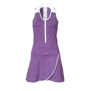 ladies golf apparel purple women's golf dress racerback mesh insert
