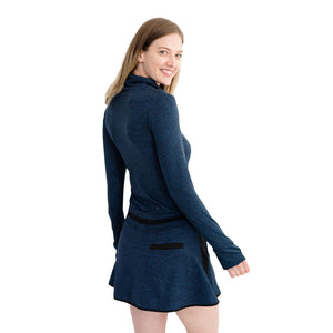 Level Skirt Heather Navy