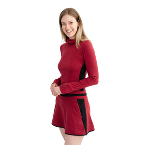 Level Skirt Heather Red