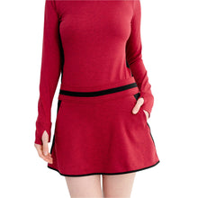 Load image into Gallery viewer, Level Skirt Heather Red