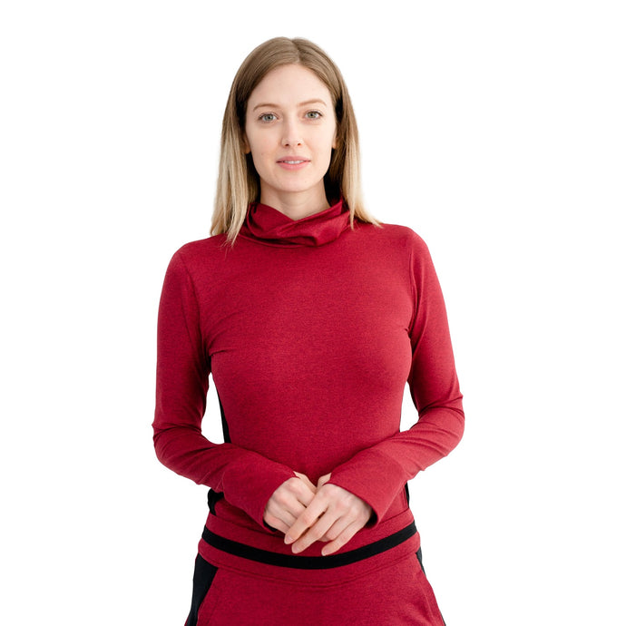 Define Pullover - Heather Red