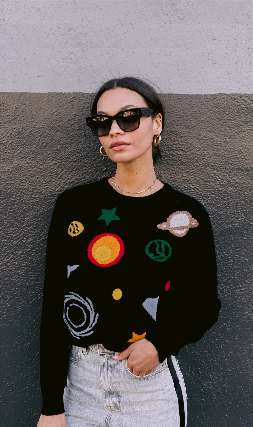 the blackhole – crewneck cashmere