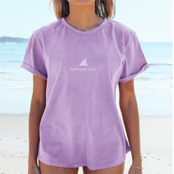 KOI CUFF TEE | SAVE OUR SEA STONEWASH PERIWINKLE