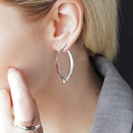 Lapland Lights Statement Earrings Silver