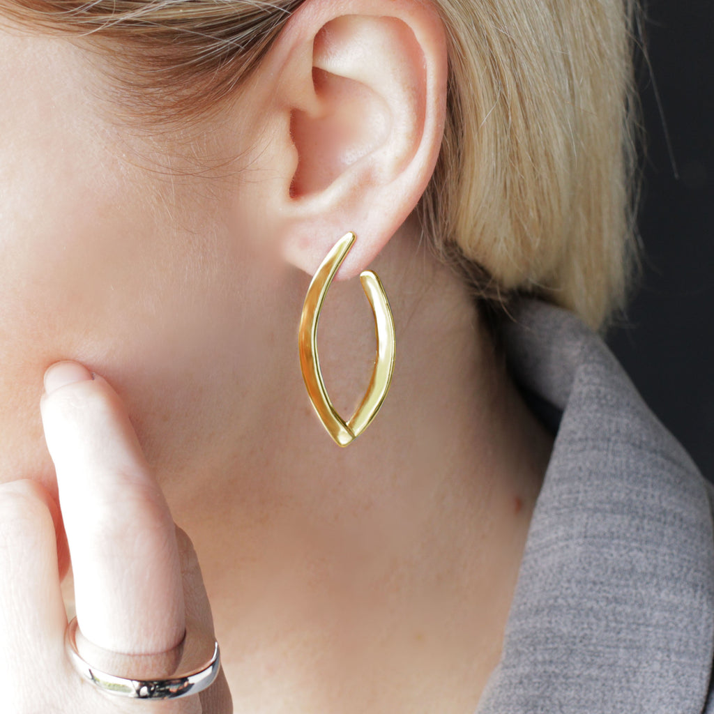 Lapland Lights Statement Earrings Gold