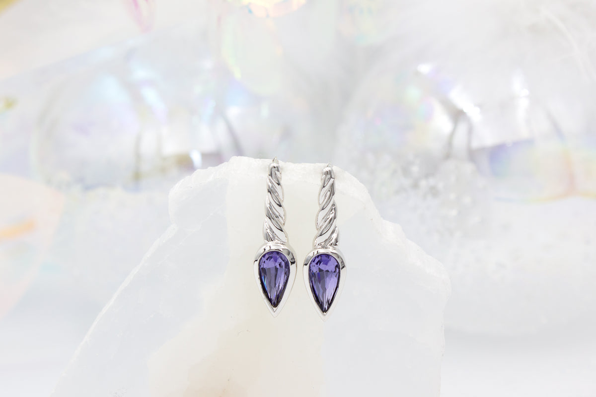 Legend Unicorn Horn Earrings - Purple