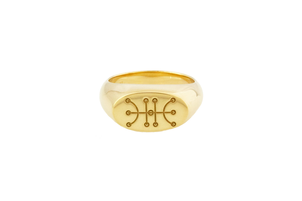 Sigil (Kaupalokar/Success) Ring Gold