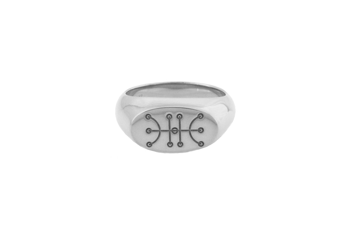 Sigil (Kaupalokar/Success) Ring Silver