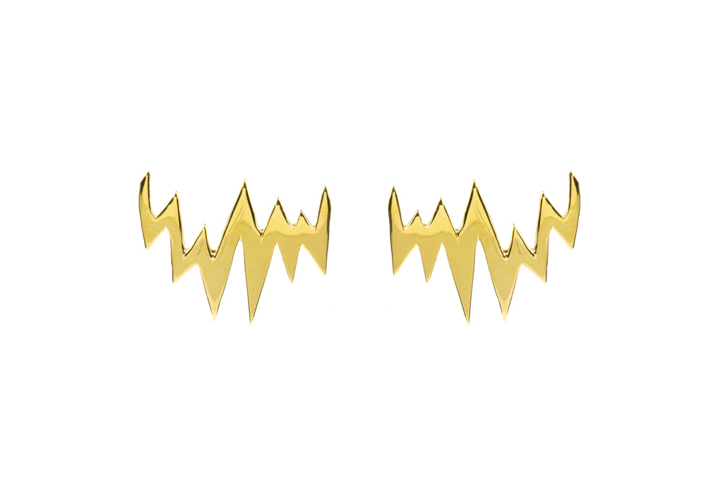 Lapland Lights Earrings Gold