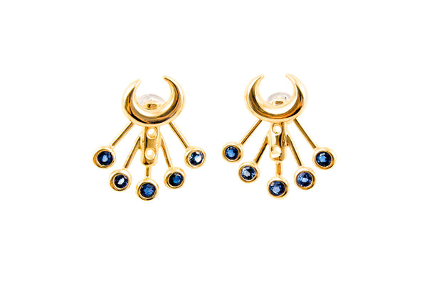 Lunar Lovers Stone Ear Jackets 18k Gold Vermeil