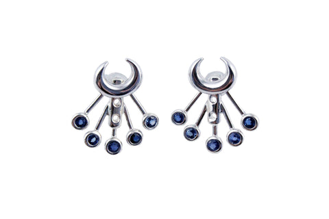 Lunar Lovers Stone Ear Jackets Silver