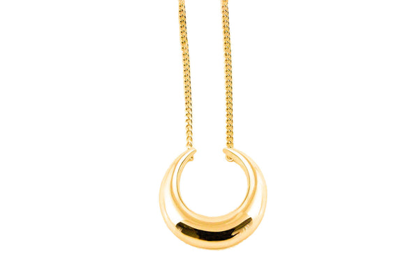 Lunar Lovers Necklace Gold
