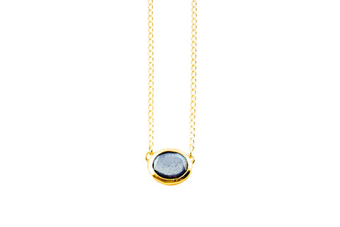 Lunar Lovers Labradorite Necklace 18k Gold Vermeil