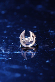 Lunar Lovers Ring Silver