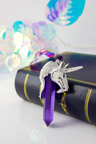 Legend Unicorn Pendant Fluorite One of a Kind