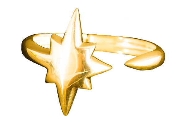 Shooting Star Bangle Gold
