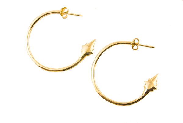 Shooting Star Hoops Gold