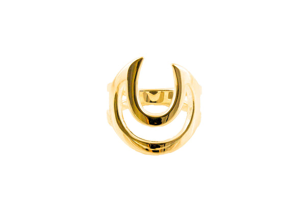 Lunar Lovers Ring Gold