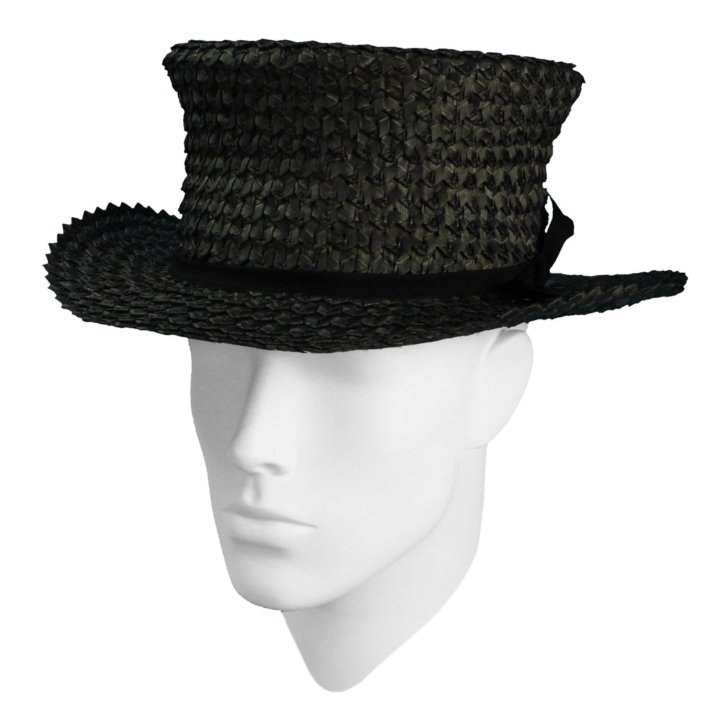 Crosscut straw top hat