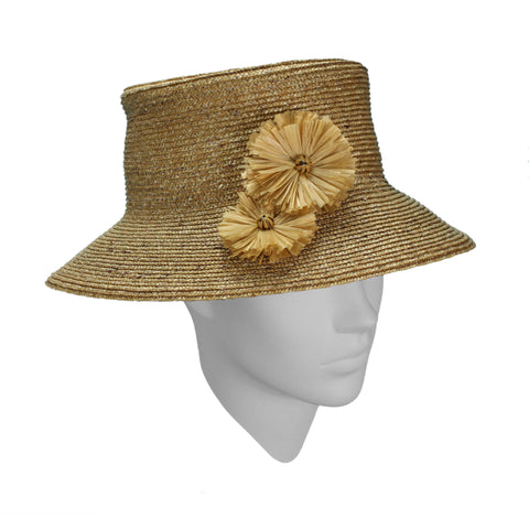 Hat Designed by Rosie Boylan - Belle 'New Look' in a subtle shade of vanilla tea