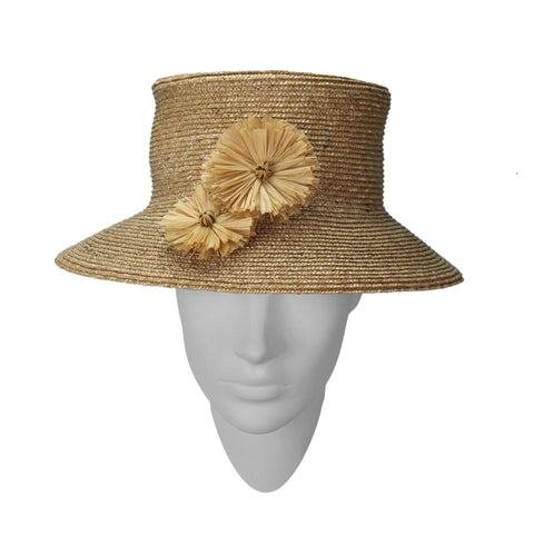 Robust, relaxed styling and distinctive 'ink-rubbed' art finish. Hat designed by Rosie Boylan