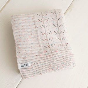 Baby Blanket - Patchwork Pointelle