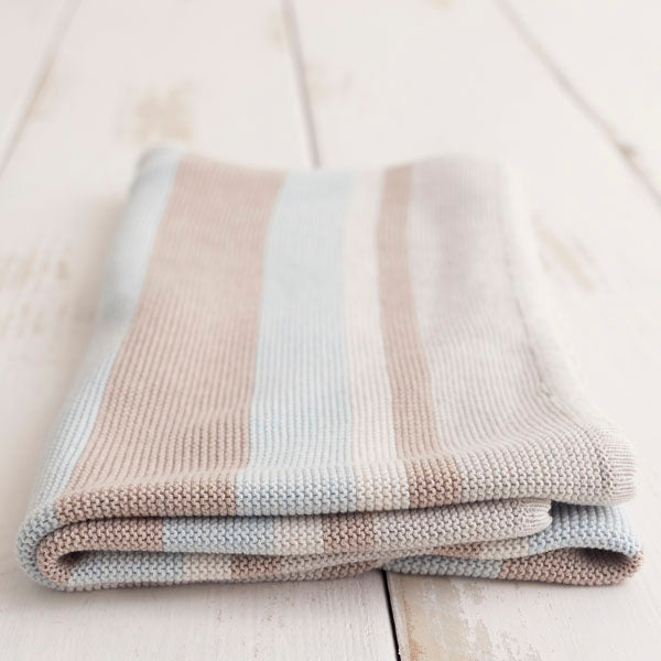Baby Blanket - Striped Cotton