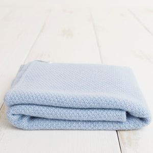 Cashmere Baby Blankets - Blue