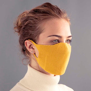 Adults One Piece Mask - Mustard
