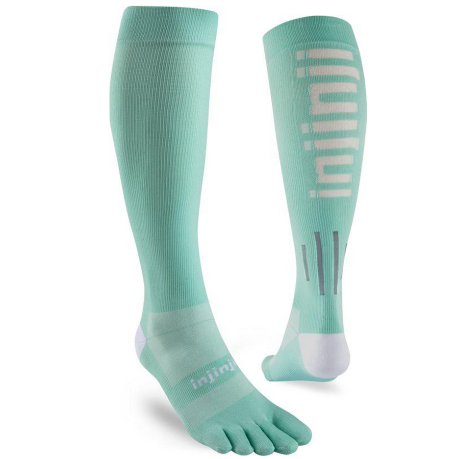 Injinji Compression Womens Lightweight OTC Calf Compression Running Socks