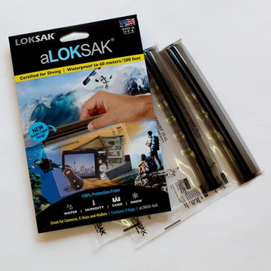aLOKSAK Waterproof Storage Bag for Small Cameras: 15cm x 15cm (2 Pack)