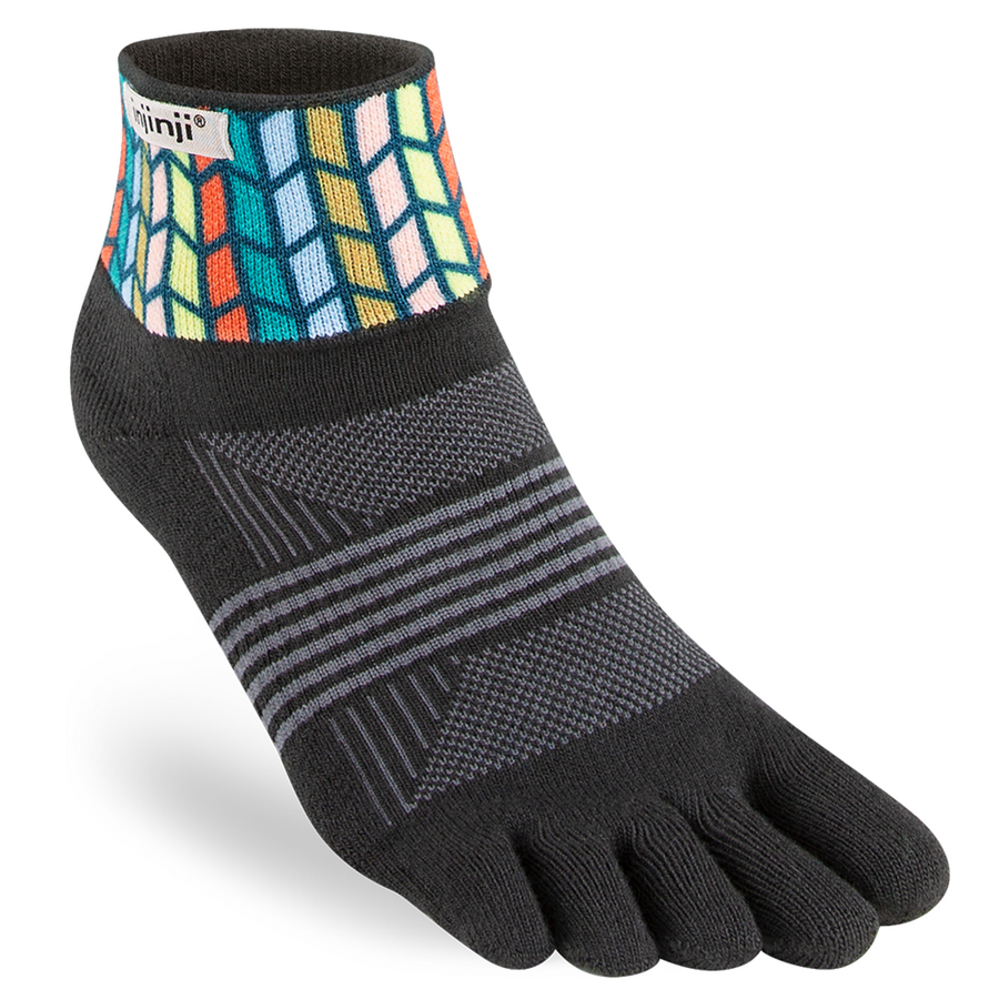 Injinji Spectrum Womens Trail Midweight Mini-Crew Running Socks
