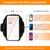 Armpocket X Plus Running Armband for iPhone 12 Pro Max, Galaxy S21 Ultra/Note 20, and large full screen devices