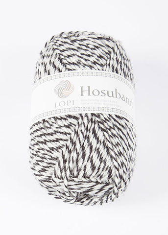 Icelandic sweaters and products - 0000 Hosuband - White/Black Hosuband Wool Yarn - Shopicelandic.com