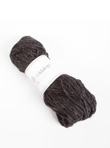 Icelandic sweaters and products - Jöklalopi - 0005 Black Heather Bulky Lopi Wool Yarn - Shopicelandic.com