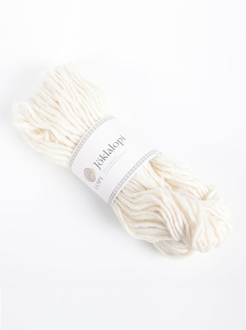 Icelandic sweaters and products - Jöklalopi - 0051 White Bulky Lopi Wool Yarn - Shopicelandic.com