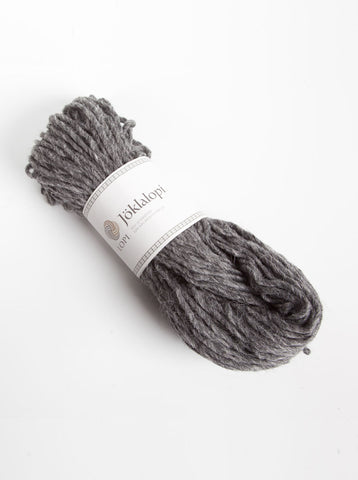 Icelandic sweaters and products - Jöklalopi - 0058 Dark Grey Heather Bulky Lopi Wool Yarn - Shopicelandic.com