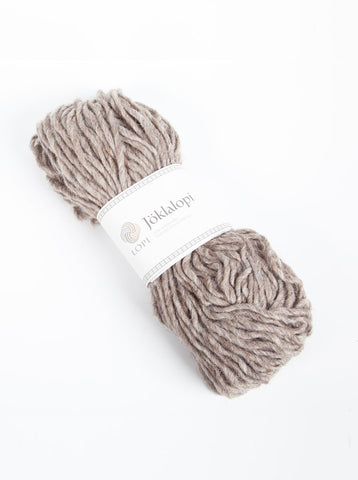 Icelandic sweaters and products - Jöklalopi - 0085 Oatmeal Heather Bulky Lopi Wool Yarn - Shopicelandic.com