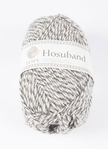 Icelandic sweaters and products - 0224 Hosuband - Grey/White Hosuband Wool Yarn - Shopicelandic.com