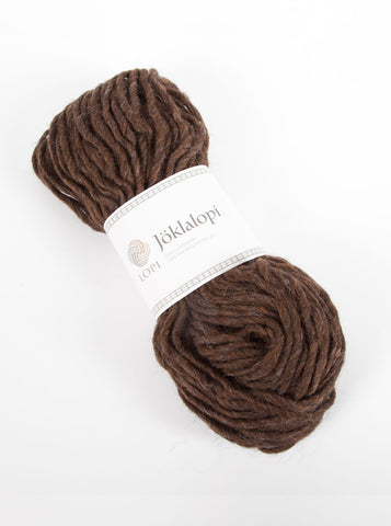 Icelandic sweaters and products - Jöklalopi - 0867 Chocolate Heather Bulky Lopi Wool Yarn - Shopicelandic.com