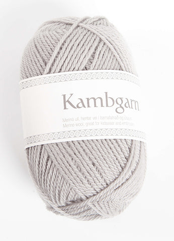 Icelandic sweaters and products - Kambgarn - 1202 Frost Grey Kambgarn Wool Yarn - Shopicelandic.com