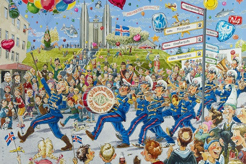 The 150th Anniversary of Akureyri - Jigsaw Puzzle (1500 pcs) - Puzzle - Shop Icelandic Products