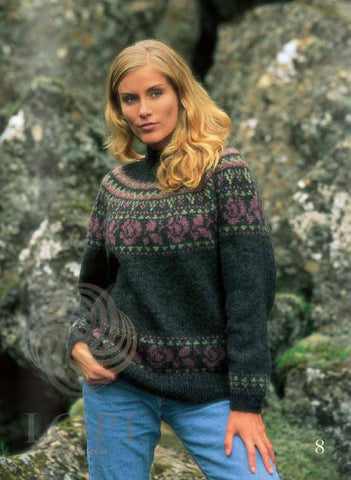 Icelandic sweaters and products - Rós (Rose) Women Wool Sweater Dark Tailor Made - Shopicelandic.com