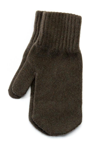 Wool Mittens Olive Green