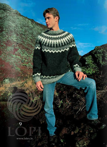 Icelandic sweaters and products - Dropar (Drops) Mens Wool Sweater Black Tailor Made - Shopicelandic.com