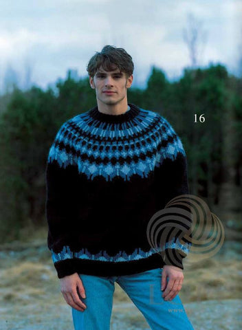 Icelandic sweaters and products - Hefð (Tradition) Mens Wool Sweater Tailor Made - Shopicelandic.com