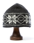 Rose Pattern Wool Hat Grey