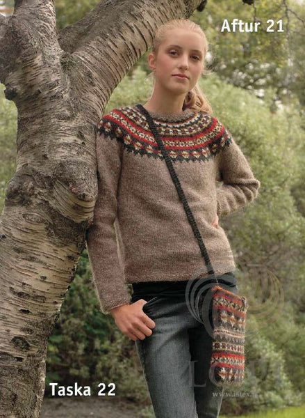 Icelandic sweaters and products - Aftur (Again) Women Wool Sweater Brown Tailor Made - NordicStore